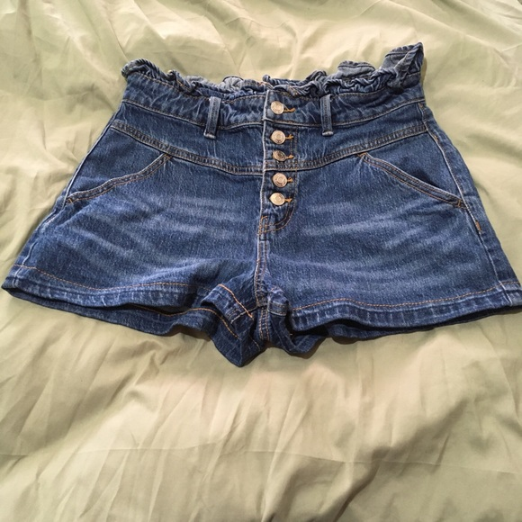 Wild Fable High Rise Button Fly Mom Jean Shorts